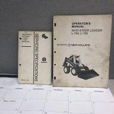 Sperry New Holland L 784 L 785 Skid Steer Loader Operators Manuals