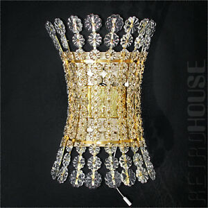 Vintage-Wandleuchte-Wandleuchter-Kristall-Lampe-Glas-Messing-Emil-Stejnar-Mid-Century