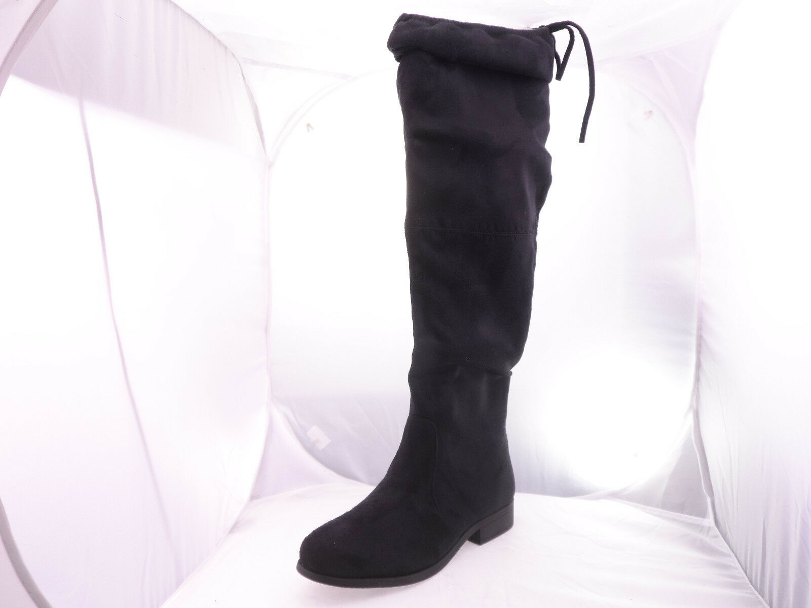 Brinley Co. Womens Black Faux Suede Over-the-knee Boots Black Womens 9 M 7132ba