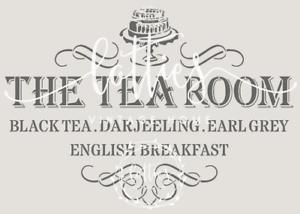 Stencil Template,Tea time Design A4 297x210mm