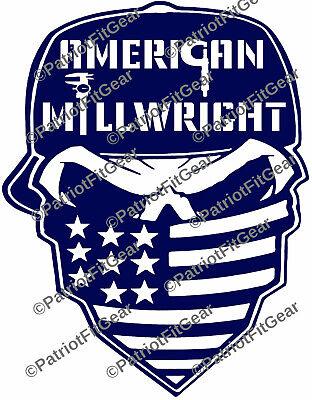 Millwright,Punisher Skull,Machinst,Milling,Starrett,Skull,Calipers,Vinyl Decal