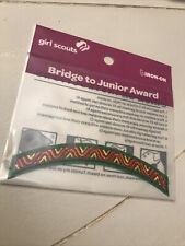 Details about  /GIRL SCOUTS Bridge to Cadette Award Arc Badge Iron-On Patch 09706 />NEW/<