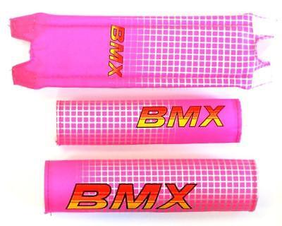 "for 12/"" bike 3459 Blue BMX Kids retro handle bar and frame foam Crash Pad Set"