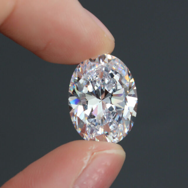 Loose Gemstone 12×16mm Large Unheated 15.50ct Top white Sapphire Oval Cut AAAA