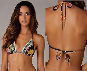 $92 Trina Turk Nandini Gold Tassel Detail Triangle Swimsuit Bikini Top 4