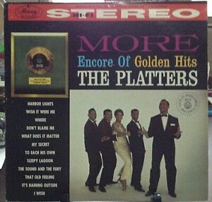 THE-PLATTERS-More-Encore-Of-Golden-Hits-Album-Released-1960-Vinyl-Record-Collec