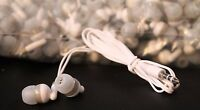 Bulk Lot Of 50 White/gray 3.5mm In-ear Earbuds / Earphones / Headphones