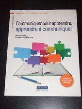 Communiquer pour apprendre, apprendre a communiquer FRENCH Cheneliere 2011 NEW