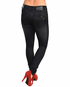 Damen High Waist Denim Jeans Hose Jeggings Damenjeans Stretch Skinny Röhrenjean