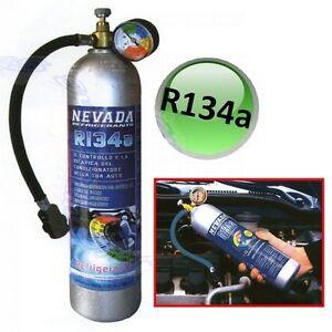 BOMBOLA GAS R134 FREON REFRIGERANTE RICARICA CLIMATIZZATORI CONDIZIONATORI AUTO