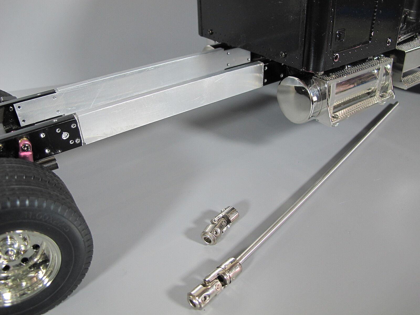 Extensión De Marco De Aluminio 6  + eje de accionamiento de acero Tamiya 1 14 King Knight Hauler