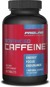 ProLab ADVANCED Caffeine 200mg - 60 TABLETS  6 Types of Caffeine   Exp: 1/31/22