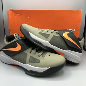 582d34ec2923 Nike Zoom KEVIN DURANT KD IV 4 ROGUE GREEN ORANGE UNDFTD 473679-302 ...