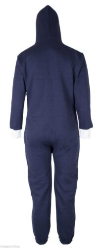 KIDS BOYS GIRLS PLAIN HOODED ALL IN ONE JUMPSUIT Wanzie PLAYSUIT Age 7-13 YEARS