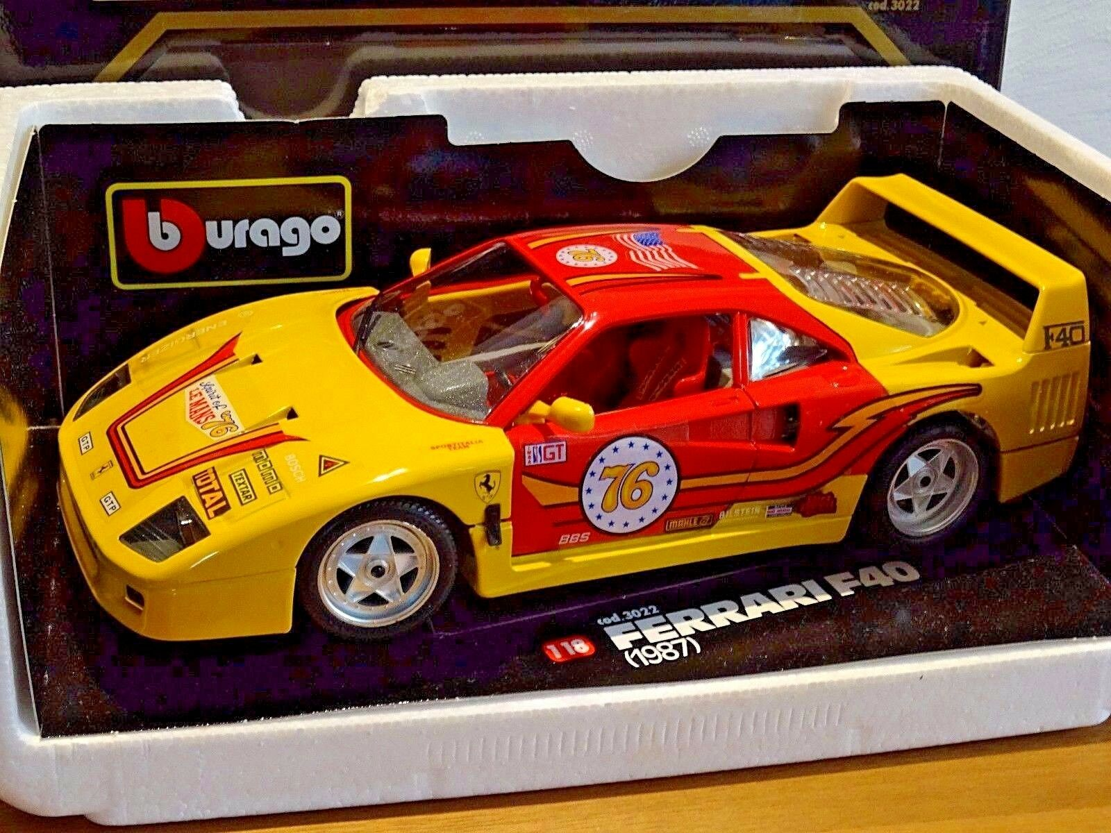 Ferrari F40 Spirit of Le Mans 76 Bburago 1 18 in OVP selten   rar