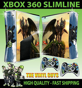 Xbox 360 slim how to train your dragon toothless 01 sticker skin 2 image is loading xbox 360 slim how to train your dragon ccuart Choice Image