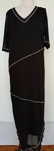 TS-TAKING-SHAPE-Black-Mesh-Maxi-Dress-Size-S