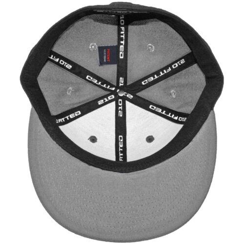 Grey Flexfit 210 Fitted Flex Hat Men/'s Charcoal Stretch High Crown Cap