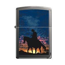 ACCENDINO ZIPPO COWBOY AL TRAMONTO Lighter Fiamma Collezionismo Western 218CSB