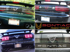 CHROME PONTIAC TRANS AM 93-99 2000 01 02 REAR BUMPER LETTERS INSERTS NOT DECALS