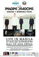 "Imagine Dragons ""Smoke + Mirrors Tour"" 2015 Manila, Philippines Concert Poster"