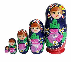 POUPEES-RUSSES-EMBOITABLES-MATRIOCHKA-PEINTE-A-LA-MAIN-CONTE-RUSSE-5-PIECES