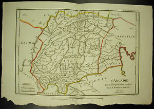 L-039-Arcadie-Laconie-Argolis-Cynurie-Elide-Card-C-1790-J-D-Barbie-Of-Hedgerow-Map