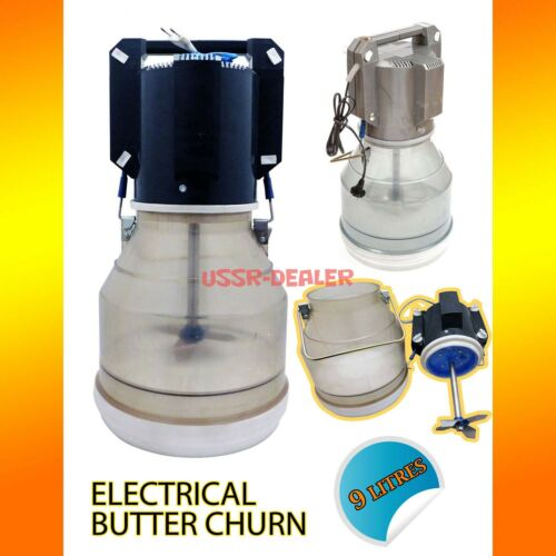 ENGLISH MANUAL ELECTRIC BUTTER CHURN 2.4 GALLONS 9 LITTERS UK PLUG