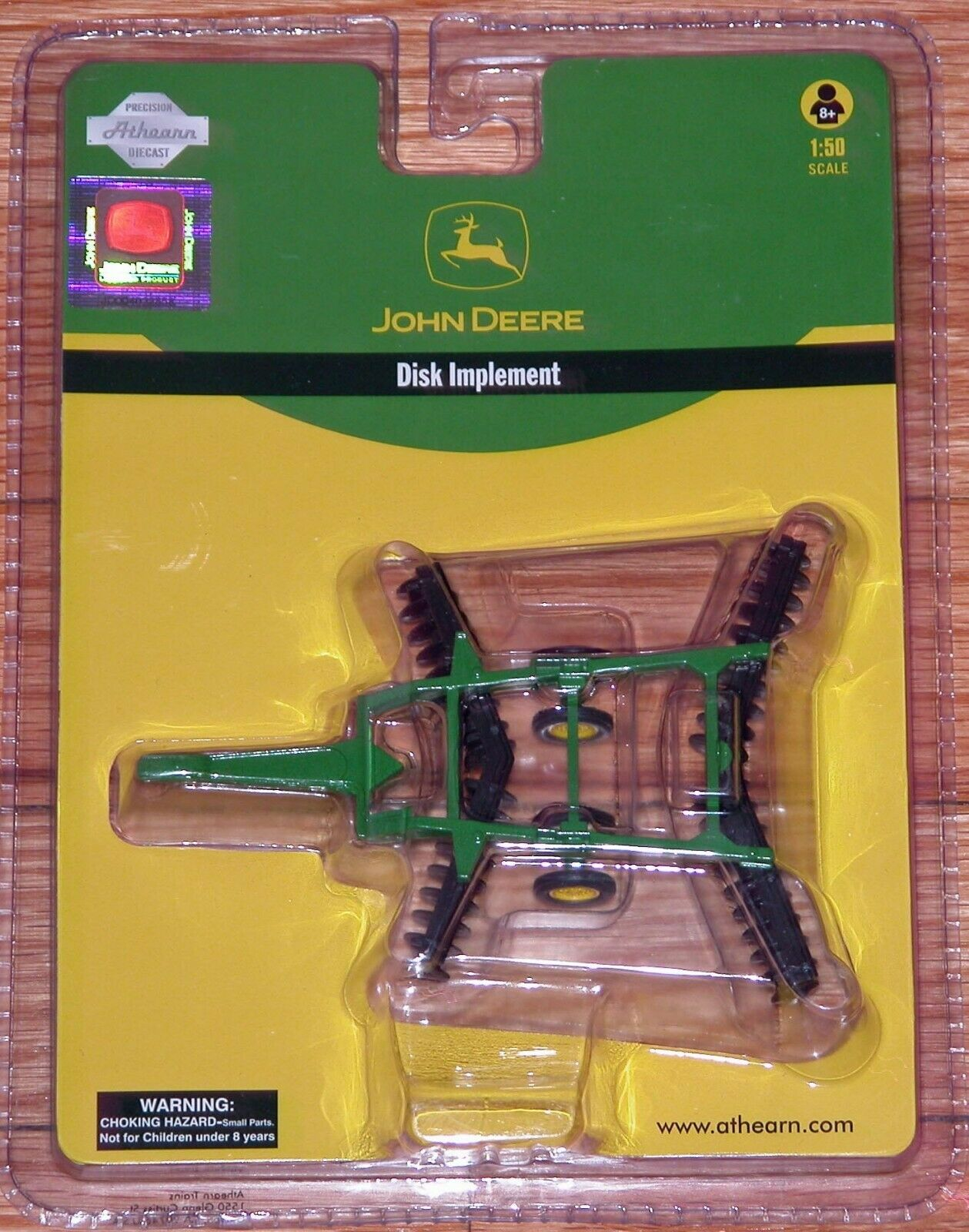 ATHEARN 77635 DISK IMPLEMENT JOHN DEERE 1 50 SCALE