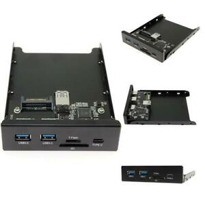 3.5INCH Double USB 3.0 Hub A+HD Audio to 20Pin Header Floppy Front Drive Panel