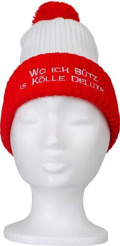 KÖLLE DELUXE • Karneval Köln Mütze Pudelmütze Bommelmütze • BÜTZ 50252