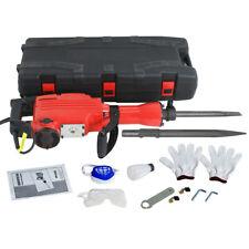 2200w Electric Demolition Jack Hammer Construction Concrete Breaker Punch 2 Bits