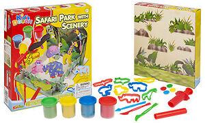 25pc-Jouet-Pour-Enfants-Sets-Pots-amp-Mise-En-Forme-Artisanat-Pate-Safari-Parc
