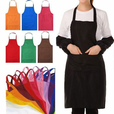 HOUSEWIFE COLORFUL COOKING KITCHEN RESTAURANT BIB APRON DRESS WITH POCKET GIFTS