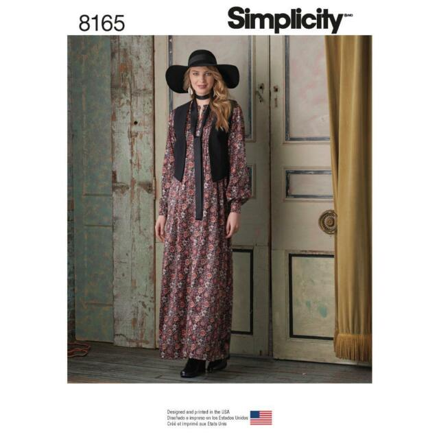 Simplicity Sewing Pattern Miss Plus Boho Dress With Lined Vest Tie ...