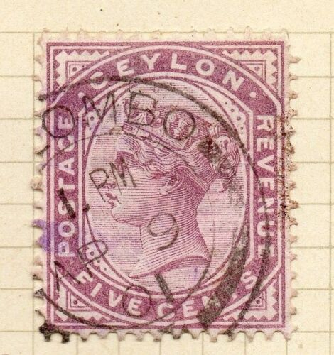 Ceylon 1886 Early Issue Fine Used 5c. 154426
