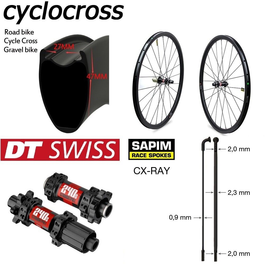 Disc brake wheel 700c 30mm depth clincher carbon bike cyclocross wheels