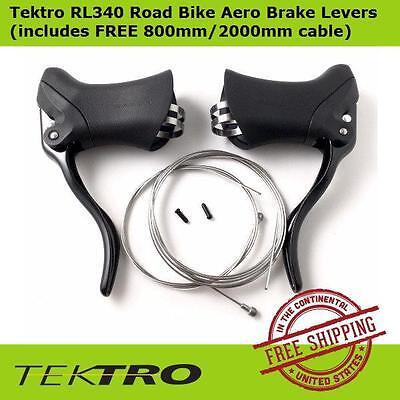 New Tektro RL340 Road Bicycle Bike Aero Brake Levers Black