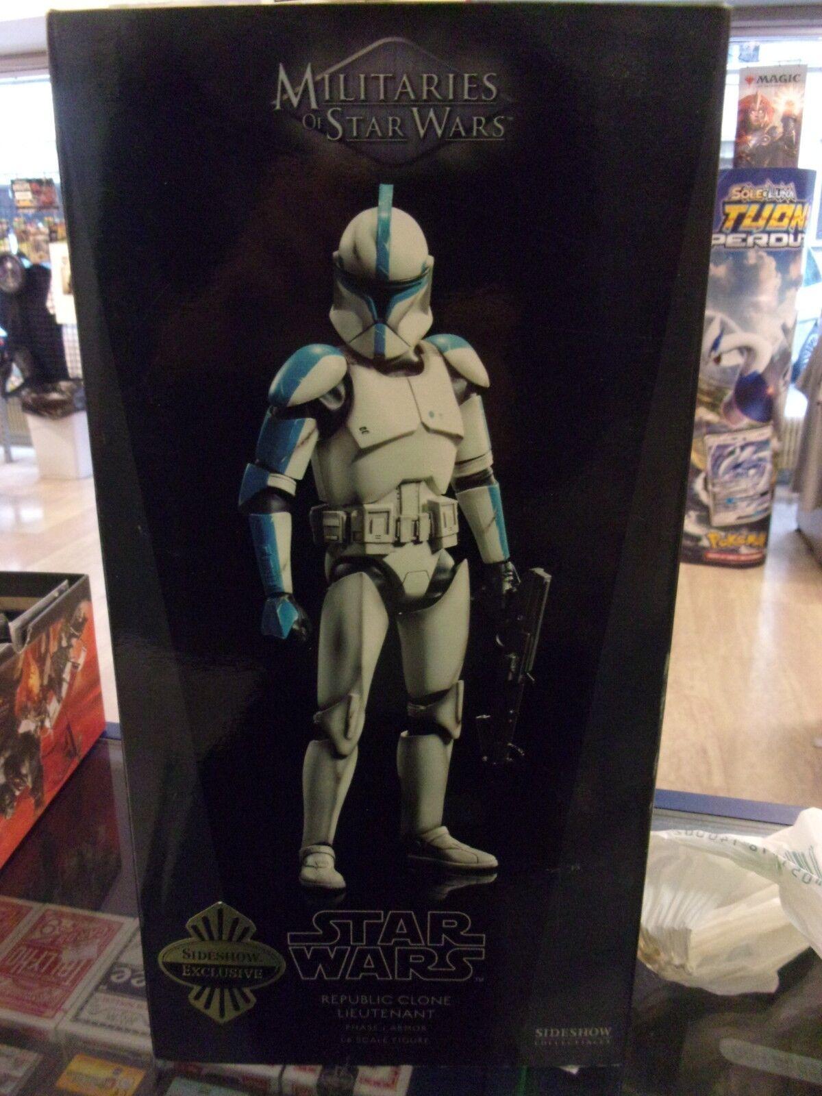 Sideshow Star Wars Clone Lieutenant Militaries of Star Wars 1 6 SCALE
