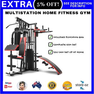 New-Powertrain-Multistation-Home-Fitness-Gym-Equipment-Set-NEW-Exercise-Station
