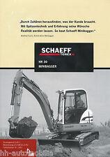 Prospekt Schaeff HR 20 Minibagger 2002 brochure mini excavator excavateur