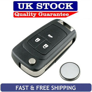 Vauxhall-3-Button-Remote-Key-Fob-Case-Service-Kit-Fits-Astra-Insignia-Cascade