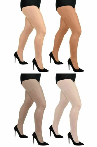 2 Pack Aurellie Women Plus Size Sheer Lycra Summer Tights UK 16-22