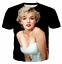 Marilyn-Monroe-Short-Sleeve-Graphic-Tee-3D-Print-Sexy-America-Ladies-T-Shirt-VX thumbnail 9