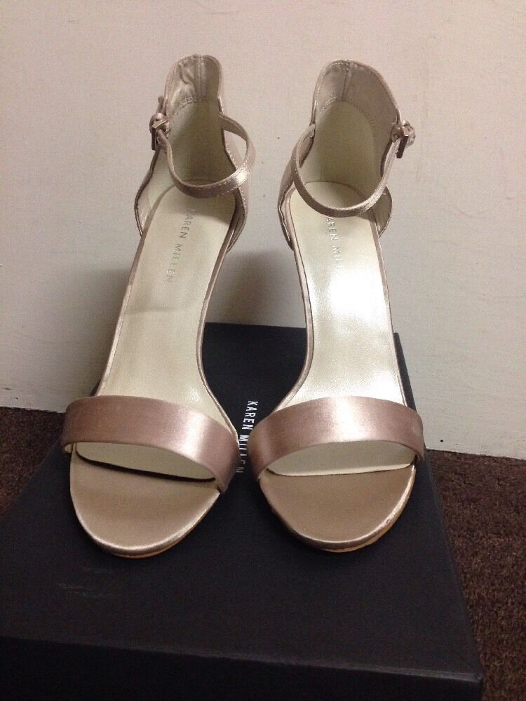 Karen Millen EU Size 39 UK 6 Neutral Sandal Buckle Strap High Heel Stiletto 4