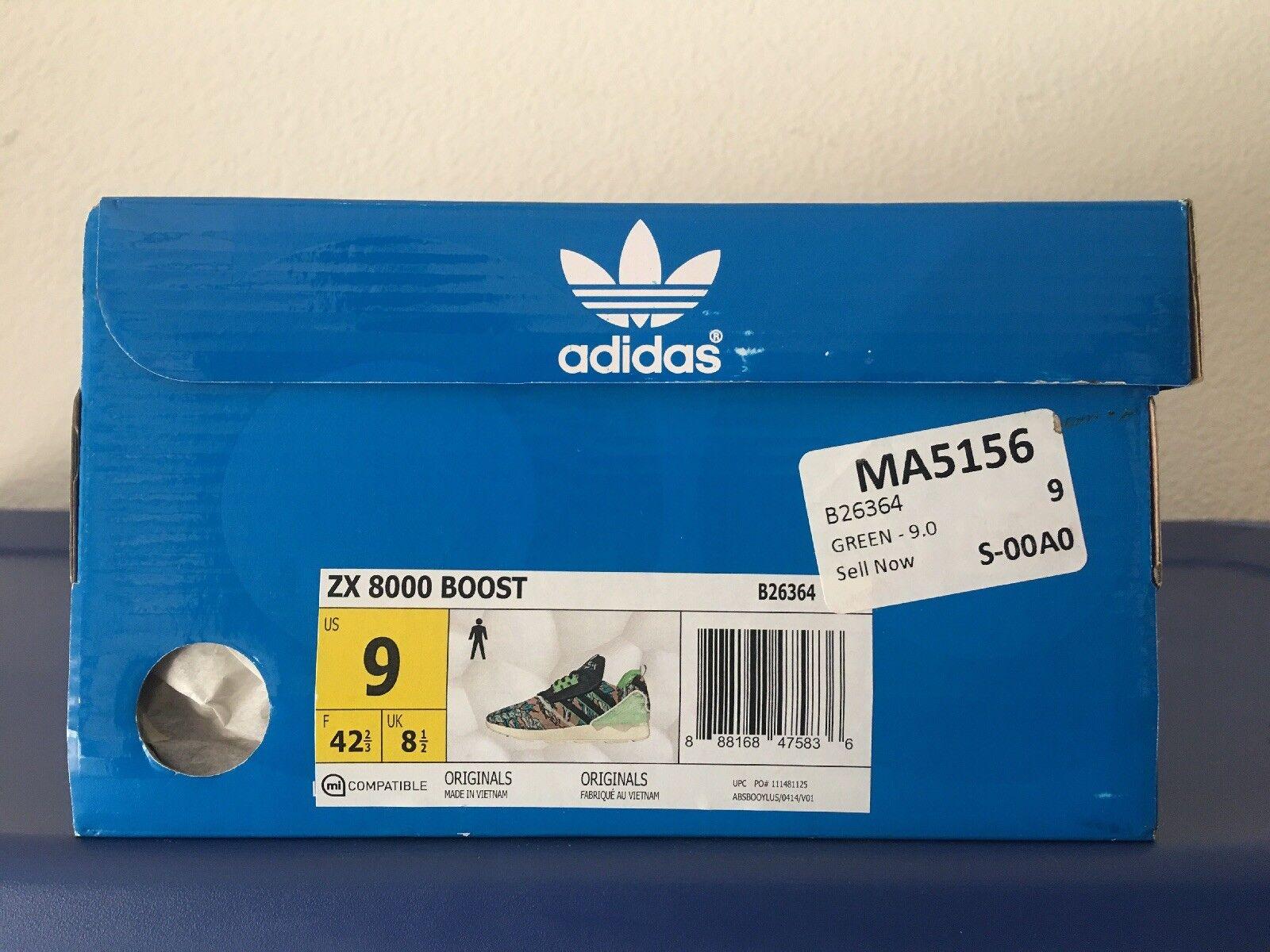 Adidas zx green 8000 impulso Uomo b26364 green zx scarpe taglia 9 nuove di zecca c6c36e