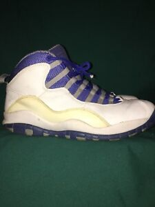 350d80c47bd Nike Air Jordan X 10 Retro TXT White/Old Royal-Stealth 487214-107 Sz ...