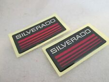Custom Epoxy Resin Silverado Emblem Pillar Cab Badge 2pcs Red