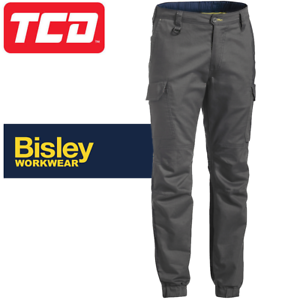Bisley Workwear Flex /& move Stretch Canvas Stove Pipe Trouser Charcoal