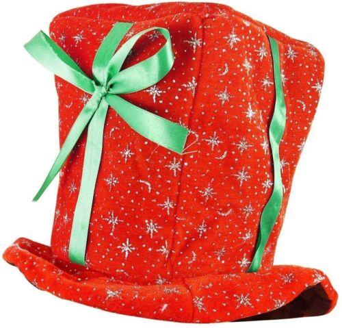 Cadeau de Noël Chapeau Peluche PAPIER CADEAU ROUGE Funny Novelty Adultes Noël Fancy Dress